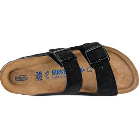 Birkenstock Arizona Soft Footbed Sandals Suede Leather Narrow Women, black